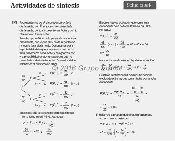 Solucionario matemáticas de 2.º y  4.º ESO
